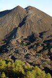 Cône volcanique et Lava In Etna National Park refroidi, Sicile images stock