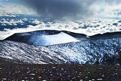 Cônes de cendre de Mauna Kea Photo libre de droits