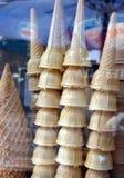 Cônes de crême glacée Photo stock