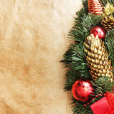 Cônes de pin de Noël Photographie stock libre de droits