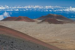Cônes volcaniques photo libre de droits