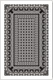 Côté 60x90 millimètre de dos de cartes de jeu noir et blanc Photos stock