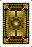 Côté 62x90 millimètre de dos de carte de jeu Images stock