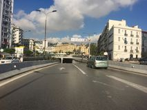 Côté colonial français de la ville d'Alger, Bach Djarrah Algérie La ville moderne a beaucoup de vieux Français Photo stock