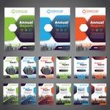 1 c?t?, couleur 3 alternative de la couverture de livre annuelle avec l'image de construction vectoris?e Illustrati image libre de droits