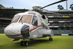 Côté d'hélicoptère de Sikorsky S-92 Photographie stock libre de droits