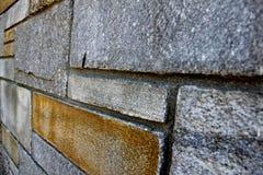 Côté d'un mur en pierre photographie stock