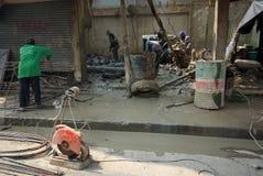 Côté de construction à Bangkok, Asie photographie stock libre de droits