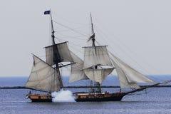 Côté de fumée de bateau photos libres de droits