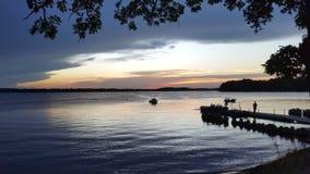 Côté de lac photographie stock
