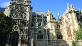 Côté de Notre Dame banque de vidéos