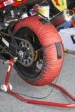Côté de réchauffeur de pneu Photographie stock