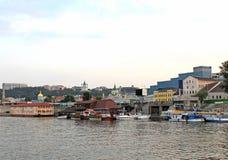Côté de rever Dnipr dans le district de Podol, Kiev Image stock
