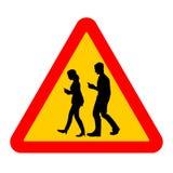 Côté de route des personnes à travers la rue avec des téléphones illustration de vecteur