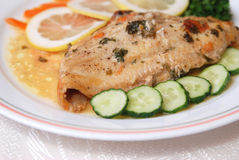 côté de salade de poissons de filet Photo libre de droits