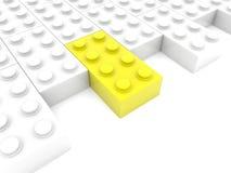 Côté des rangées de briques de jouet illustration stock