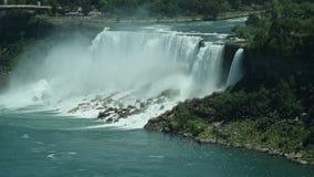 Côté des USA de chutes du Niagara banque de vidéos