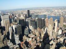 Côté est Manhattan de haut, neuve Image libre de droits