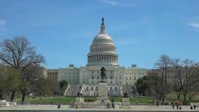Côté Ouest du bâtiment de capitol un matin ensoleillé de ressort à Washington photo libre de droits