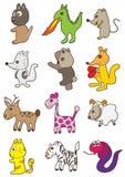 Côté Set_eps de regard d'animaux illustration de vecteur