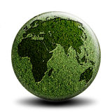 Côté vert B du monde Photos stock