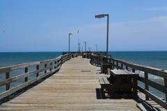 Côtés extérieurs la Caroline du Nord de promenade de pilier de pêche Photographie stock libre de droits