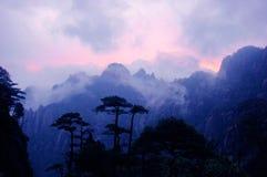 côte après coucher du soleil Image libre de droits