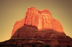 Côte au coucher du soleil Images libres de droits
