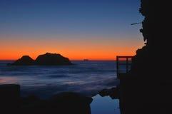 Côte au crépuscule Photos libres de droits