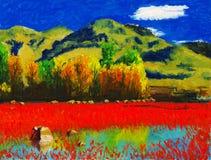Côte colorée illustration stock