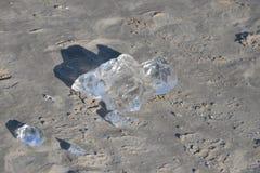 Côte congelée et glaciale 10 de mer baltique Image stock