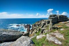 Côte cornouaillaise rocailleuse Images libres de droits