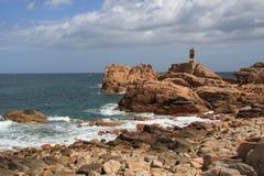 Côte d'île de Bréhat Photographie stock