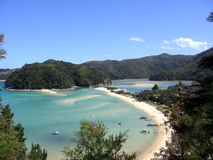 Côte d'Abel Tasman photo stock