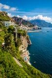 Côte d'Amalfi - région de Campanie, Italie photo stock