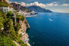 Côte d'Amalfi - Salerno, Campanie, Italie, l'Europe images libres de droits
