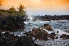 Côte d'Hawaï images libres de droits