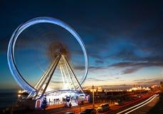Côte de Brighton à la soirée agréable images stock