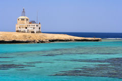 Côte de corail azurée de paradis image libre de droits