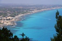 Côte de Formentera Photographie stock