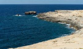 Côte de l'île de Gozo Malte Image stock
