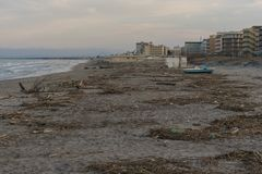 Côte de l'Adriatique de mer Image libre de droits