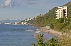 Côte de l'océan pacifique au Mexique image libre de droits