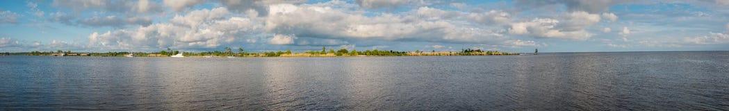 Côte de la Louisiane au coucher du soleil images libres de droits