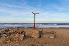 Côte de la Mer du Nord à Newport, Norfolk, Angleterre, R-U photos stock