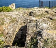 Côte de la Mer Noire Banque Lithoidal, Bulgarie images stock
