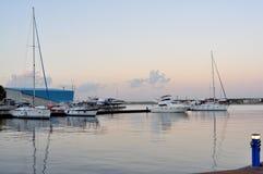 Côte de la Mer Noire de Roumain dans la ville de Constanta Photographie stock libre de droits