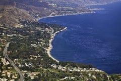Côte de Malibu Photos libres de droits