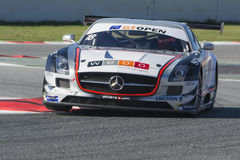 CÔTE de MANUEL DA de conducteur Amg gt3 de sls de Mercedes Le GT international OUVERT Image stock