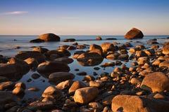 Côte de mer baltique Photo libre de droits
